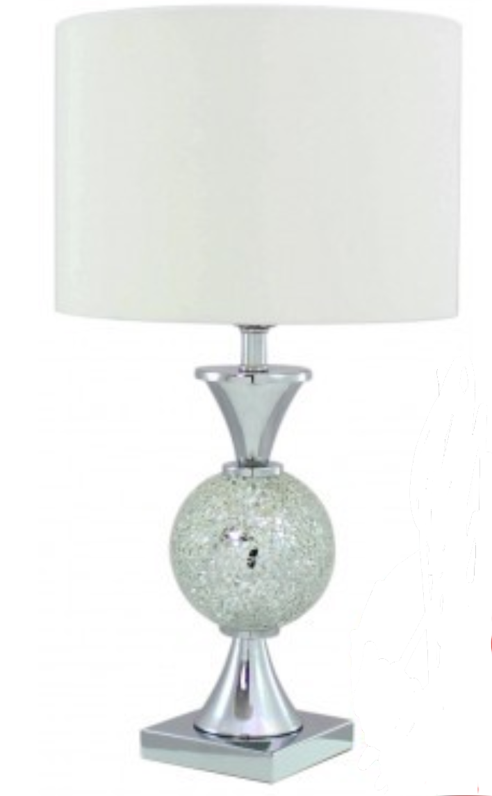 Lamp Crackle Silver