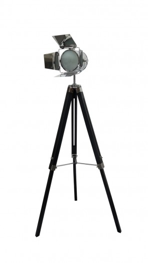 140cm Black Floor Standing Tripod Lamp