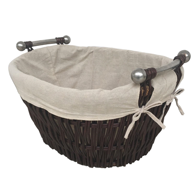 Willow Log Basket With Handles