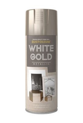 400ML Rustoleum Metallic White Gold