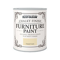 750ML Rustoleum Chalky Paint Clotted Cream