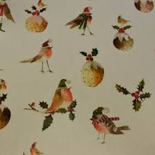 Robin Christmas Oil Cloth