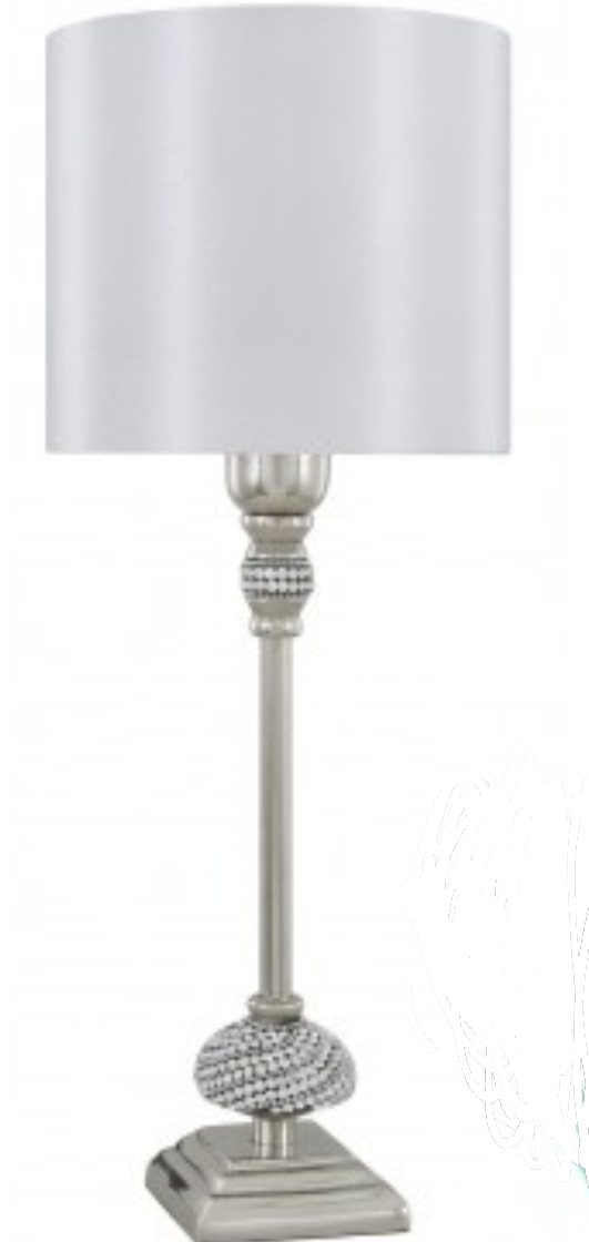 Lamp Silver Diamante